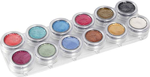 Körper P Kostüm - GRIMAS Water Make-up PEARL Pure 12 Palette P