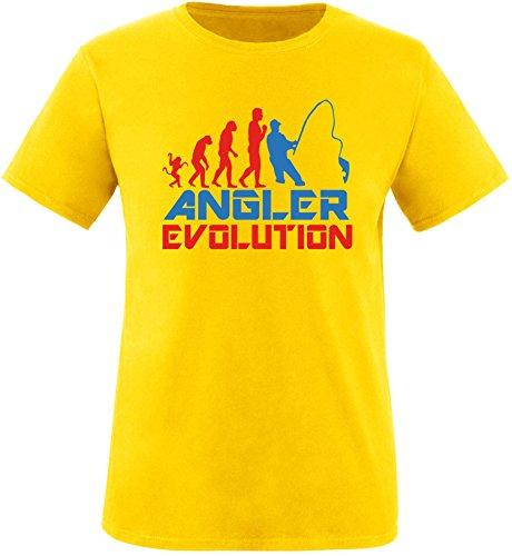 EZYshirt® Angler Evolution Herren Rundhals T-Shirt Gelb/Rot/Blau