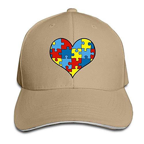 GJdd_diy Unisex Autism Puzzle Heart Adult Adjustable Snapback Hats Baseball Cap