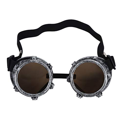 Zolimx Steampunk Goggles Vintage Style Schweißpunk Gläser (C)