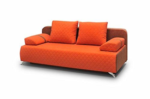mb-moebel Couch mit Schlaffunktion Sofa Schlafsofa Wohnzimmercouch Bettsofa Ausziehbar Palermo