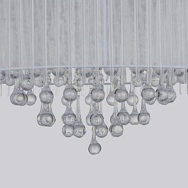 Crystal Drum (BinLZ Chandelier Moderne Kronleuchter Deckenleuchten Anhänger Pendelleuchte Drum Chrome Feature für Crystal Metal Wohnzimmer Schlafzimmer Esszimmer 3C Ce FCC Rohs für Wohnzimmer Schlafzimmer, 220-)
