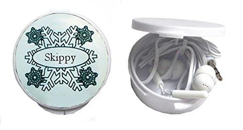 auriculares-in-ear-en-una-caja-personalizada-con-skippy-nombre-de-pila-apellido-apodo