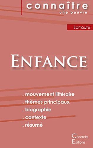 Fiche de lecture Enfance de Nathalie Sarraute (Analyse littéraire de référence et résumé complet) par