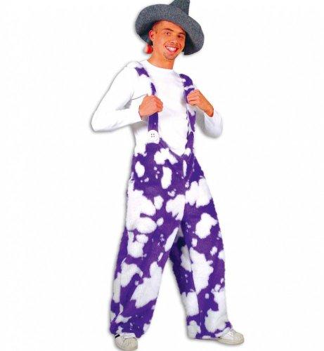Kostüm Kuhhose Plüsch lila - Größe L -