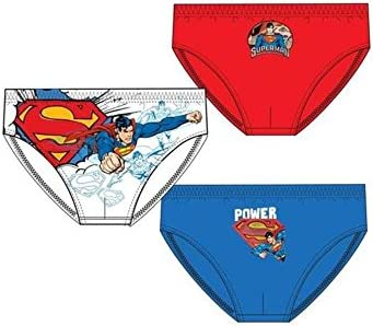 3 calzoncillos para niño Superman 4-5 años
