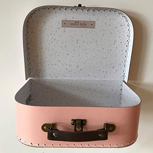 Sass and Belle Koffer/Kinderkoffer/Puppenkoffer/Aufbewahrungsbox. Pappkoffer, 3 Verschiedene Größen. (Pastellfarben, Mittel) -