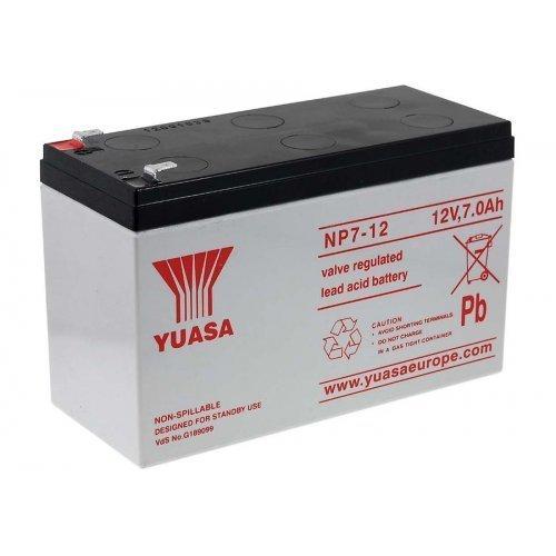 YUASA Batteria ricaricabile da cambio per carrozzelle macchine elettriche scooter elettrico auto per bambini 12V 7Ah