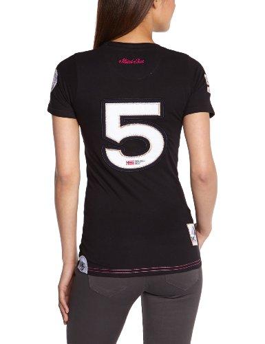 Geographical Norway Damen T-shirt Schwarz - Noir (Black)