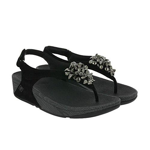 Fitflop Blossom 2 Adjustable Heel Femme Sandales Noir Noir