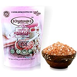 Crystamin Himalayan pink salt for mineral bath 400 gm