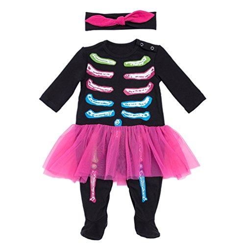Anguang Halloween Kürbis Kostüm Kinderkostüme Baby Mädchen Jungs Strampler Body Stil 2 73