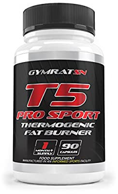 T5 Fat Burners x90 Capsules by GYMRAT-SN - High Quality T5 Slimming Pills Weight Loss Supplement - Suppress Appetite, Boost Metabolism and Increase Energy - GMP and INFORMED SPORTS Certified - SPECIAL PROMO OFFER by GYMRAT-SN