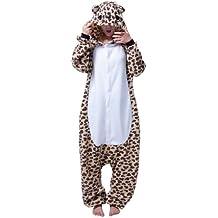 Keral Kigurumi Pijamas Adulto Anime Cosplay de Halloween Traje Outfit_Leopard_M