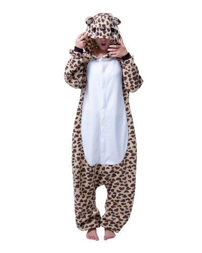 Keral Halloween Kostüm Sleepsuit Cosplay Fleece Overall Pyjama Leopard
