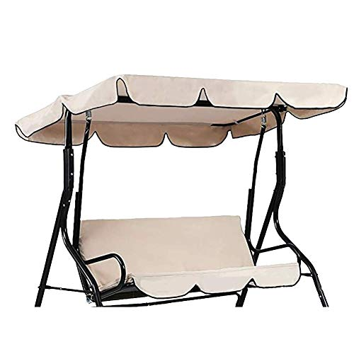 QEES parasole impermeabile e copertura di ricambio per dondolo da giardino a 3 posti