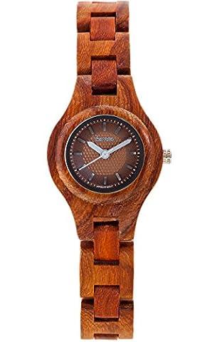 Bois Tense Womens Pacific Premium Femme Horloge l7509r-BR–Naturel Bois de Rose l7509r de Br