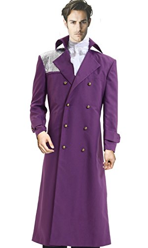 CosDaddy ® Violett Purple Rain Costume Prince Rogers Nelson Cosplay Halloween Party Event Kostüme US Size (Purple Rain Kostüme Halloween)