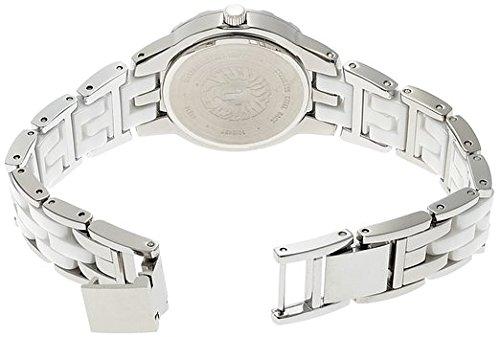 Anne Klein  10/N9457WTSV – Reloj de cuarzo para mujer, con correa de cerámica, color blanco