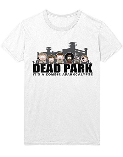 T-Shirt TWD DEADPARK IT`S A Zombie APARKALYPSE South Park Mashup C627397 Weiß XL