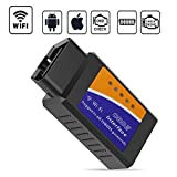 GeekerChip OBD2 WiFi, OBD2,Auto Strumenti Diagnostici,Forte Compatibilità-Collegare Via WiFi-Compatibile con iOS, Android & Windows Dispositivi - Adatto per Maggior Parte Auto