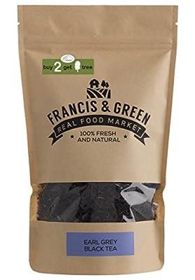 Francis & Green - Thé Noir Earl Grey en vrac, 170g