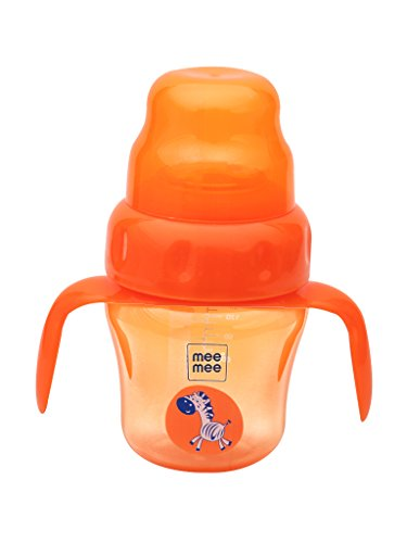 Mee Mee 2 in 1 Spout and Straw Sipper Cup (Orange) -150 ml