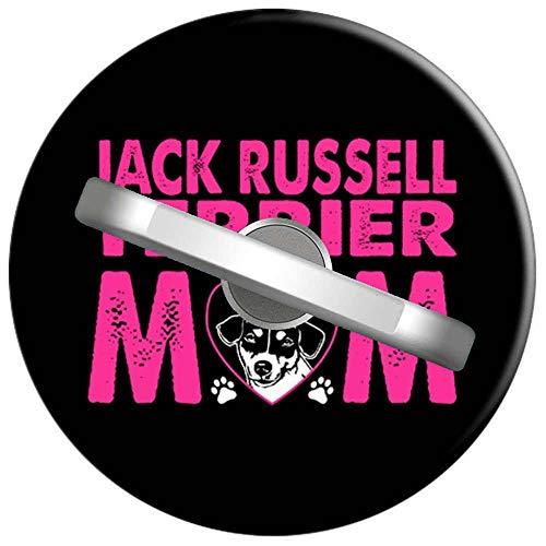Telefon Handy Ring Jack Russell Terrier Mom Hunde Haustiere Liebhaber, 360 Grad drehbar Finger Ring Griff Handy Halter kompatibel mit Smartphones und Tablets 1U1123 -
