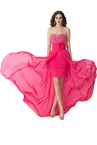 Sunvary nuovo arrivo, colonna corta a vestiti da Cocktail, per feste per bambini rosa fucsia