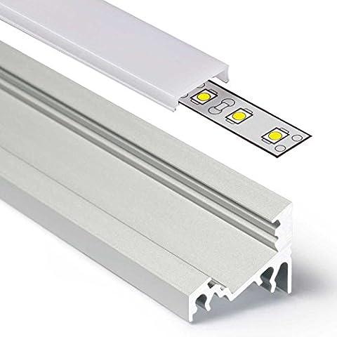 2m Aluprofil CORNER (CO) Ecke 2 Meter Aluminium Profil-Leiste eloxiert