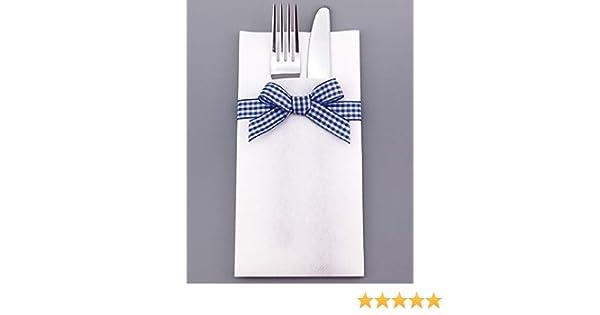 12 x Besteckservietten Servietten stoffähnlich 40 cm Umschlag Hochzeit Dinner