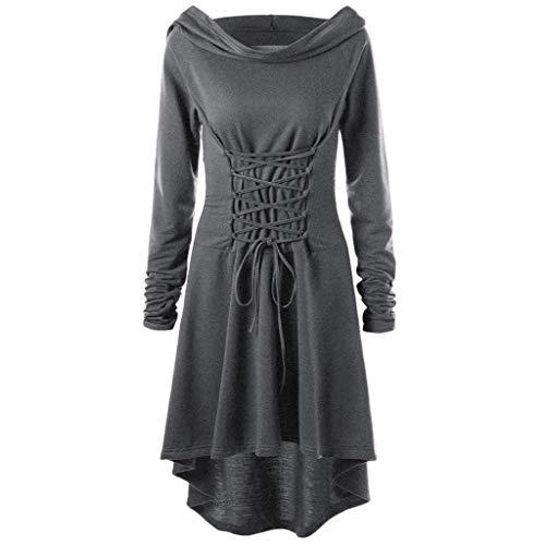 Matrosen Kostüm Frau Selber Machen - Lazzboy Hooded Vintage Pullover High Low