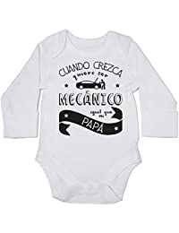 HippoWarehouse Cuando Crezca Quiero Ser Mecánico Igual Que Mi Papá body manga larga bodys pijama niños