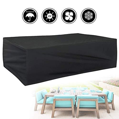 Gartenmöbel-Set, 210T Outdoor-Schutzhülle wasserdichte Gartensofa-Abdeckung Tisch und Stuhl Staubdichte Folie Rechteck (Size : 135 * 135 * 75cm)