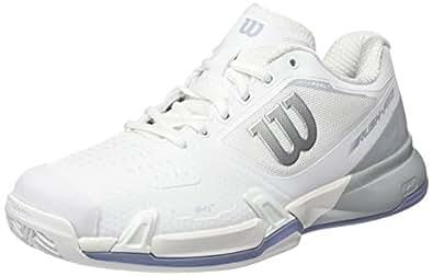 Wilson Rush Pro 2.5 Clay W, Chaussures de Tennis Femme, Blanc (White/Pearl Blue/Stonewash 000), 43 1/3 EU