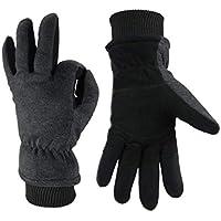 WEHOLY Guante de Invierno Resistente al Viento al Aire Libre, cálido, frío, de esquí, Resistente al Desgaste y a Bajas temperaturas, anticongelante, Color Negro, tamaño XX-Large
