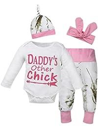 Babykleidung Babymode Longra Strampler für neugeborene Babyanzug Jungen Mädchen Langarm Brief Bodys und Baby Hosen mit Hut Stirnband festliche neugeborene Strampler kleidung