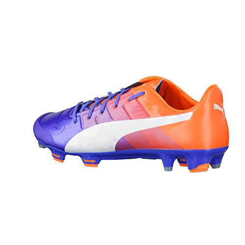 Puma evoPower 1.3 FG, Scarpa Da Calcio Uomo blue yonder-puma white-shocking orange