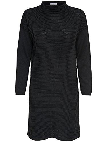 JACQUELINE de YONG Strickkleid Kleid Stehkragen JDYCLUB DRESS 15141381 taupe Gr. L
