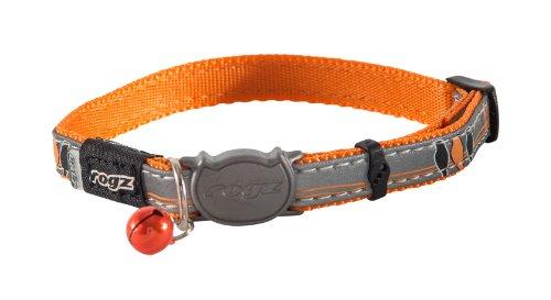 Rogz CB08-D Halsband Nightcat, S, orange