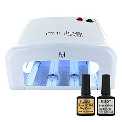 Gel Polish Nail Manicure Kit Original Bluesky Top Base Coat Mylee UV Lamp Dryer High Quality ABS Plastic and Faster Curing times