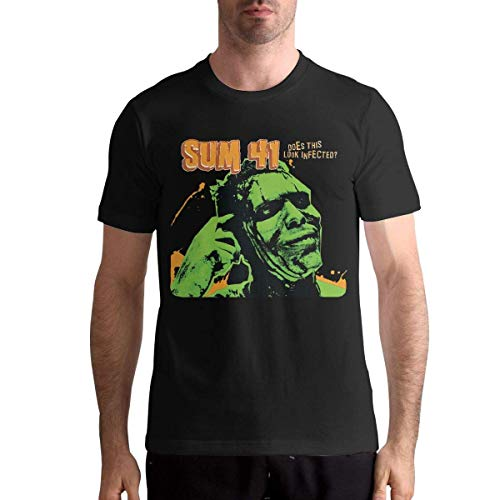 Quitelike Sum 41 T Shirts Men's Tops Short Sleeved Round Neck Cotton Tee Tops Männer T-Shirts -