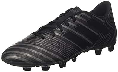 794286e2c adidas Men's Nemeziz 17.4 FxG Footbal Shoes, Black (Core Black/Core Black/