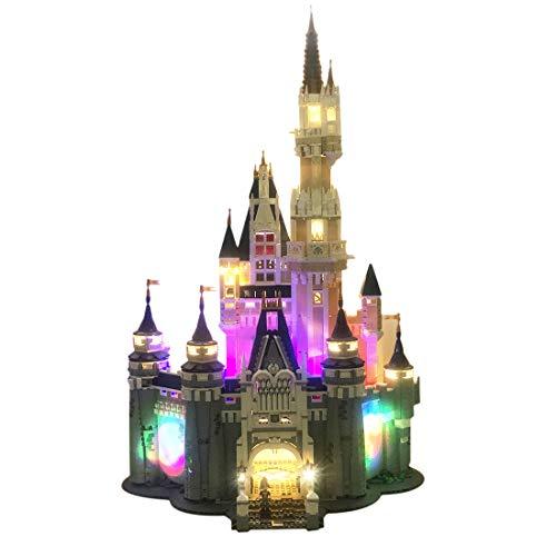 Yavso USB Beleuchtungsset für Lego, LED-Licht Set LED Beleuchtung Baustein Spielzeug Licht Set für Lego 71040 Das Disney Schloss (Nicht enthalten Lego-Modell)