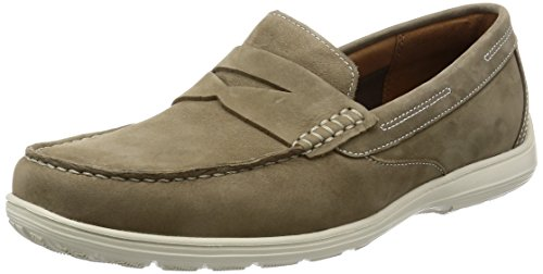 Rockport Total Motion Loafer Penny, Mocassins Homme Beige (new Vicuna Nubuck)