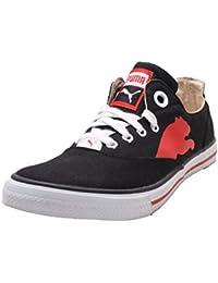 Puma Black & White Canvas Sneaker - 7 UK