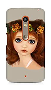 Amez designer printed 3d premium high quality back case cover for Motorola Moto X Play (Cute doll 2)