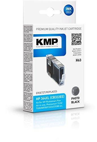 KMP H63 - Cartucho de tinta HP Nº364XL Photo CB322EE, color negro