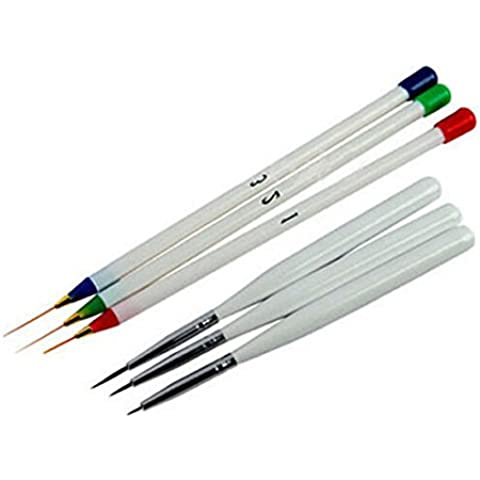 dynry (TM) 2016Nueva uñas Gel arte pintura diseño Pen herramientas 6piezas/set de Tire–Bolígrafos de pintura cepillo de uñas cepillos de uñas Drop Shipping