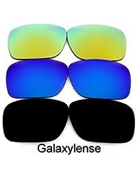 Galaxis Ersatzgläser für OAKLEY Offshoot Sonnenbrille Schwarz & Titan & grün zyRgJf
